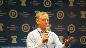 Former governor Howard Dean addresses Vermont delegates to the Democratic National Convention in Philadelphia last July.