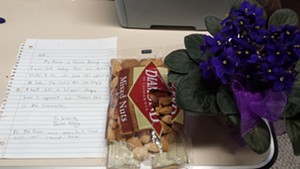 Letter and gifts from community members to the Islamic Society of Vermont