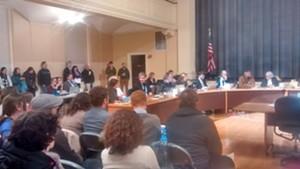 A large crowd at Burlington City Council