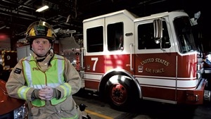 Kevin Maxfield, firefighter and emergency medical technician, Vermont Air National Guard