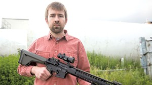 Paul Heintz with the AR-15
