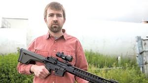 Paul Heintz with the AR-15