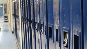 A Burlington High School hallway