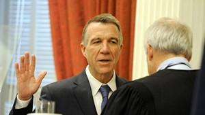 Gov. Phil Scott swears the oath of office