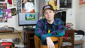 Matthew Hall at his studio in Plattsbugh, N.Y.