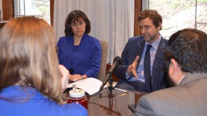 Rep. Mitzi Johnson (D-South Hero) and Sen. Tim Ashe (D/P-Chittenden) earlier this week