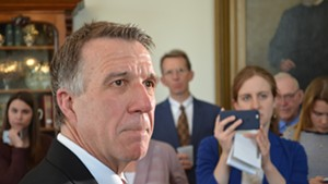 Gov. Phil Scott responds to the Senate's vote Friday afternoon.