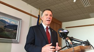 Governor Phil Scott at his Friday press conference