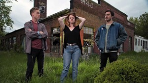 Left to right: Kayhl Cooper, Betsy Rose Besser and Rob Liu of Noise Ordinance