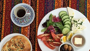 Mediterranean breakfast plate at Istanbul Kebab House