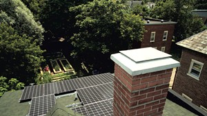 Sky Yardley and Jane Dwinell's rooftop solar array