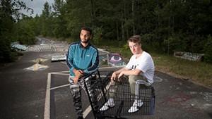 Sam Paulino and Caleb Hoh are  hip-hop duo Sam and Somba