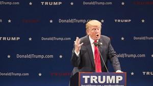 Donald Trump in Burlington last year