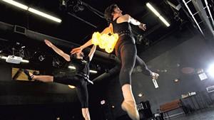 Chatch Pregger and Avi Waring dancing as fireflies