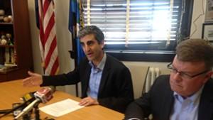 Mayor Miro Weinberger and Burlington Telecom Advisory Board Chair David Provost