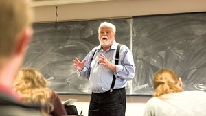 Garrison Nelson teaching a class