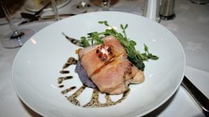 Christian Kruse's bacon-wrapped rabbit loin at Basin Harbor Club