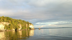 View of Lone Rock Point from Lake Champlain
