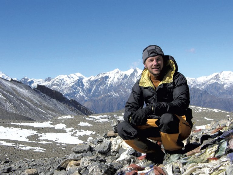 Austin Borg on the Annapurna Circuit in Nepal - COURTESY OF AUSTIN BORG