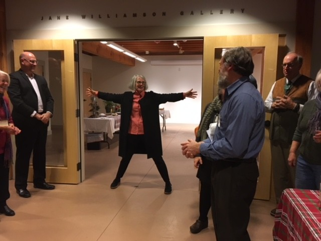Jane Williamson at November 30 retirement party - COURTESY OF ROKEBY MUSEUM