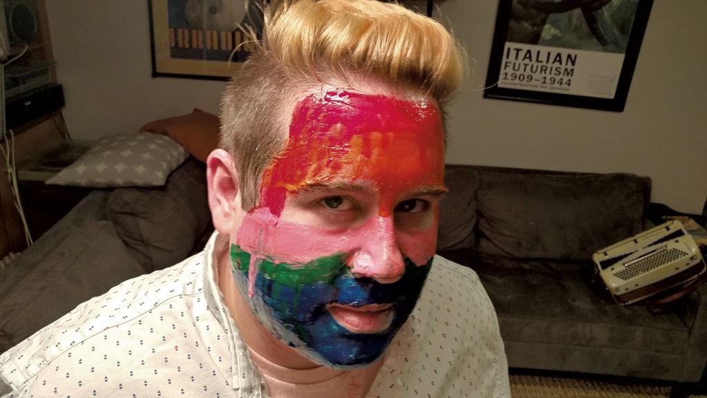 Music editor Jordan Adams getting ready for Hyperglow - JORDAN ADAMS