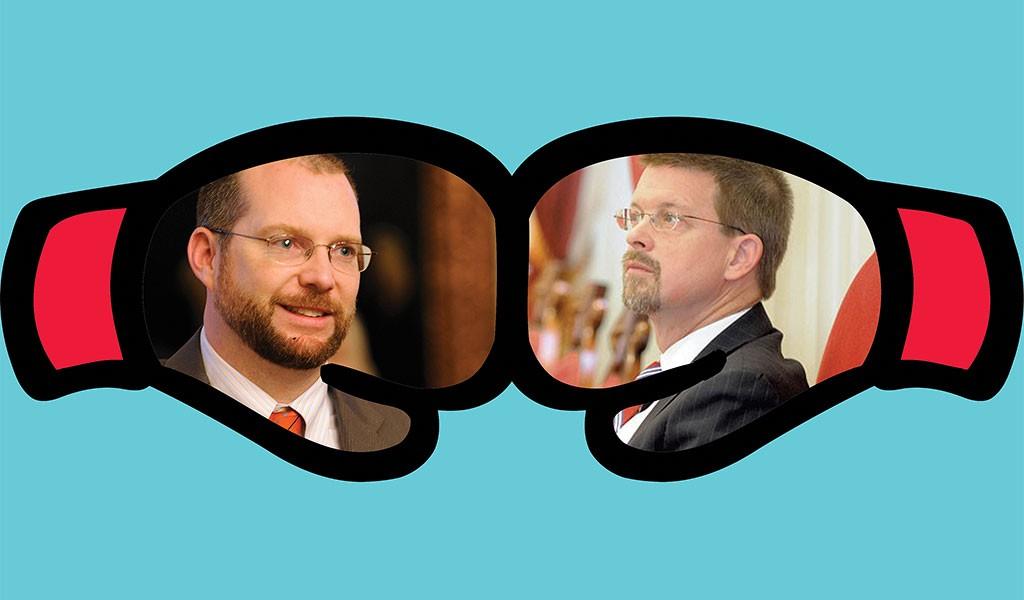 Jason Gibbs, left, and Shap Smith - DIANE SULLIVAN