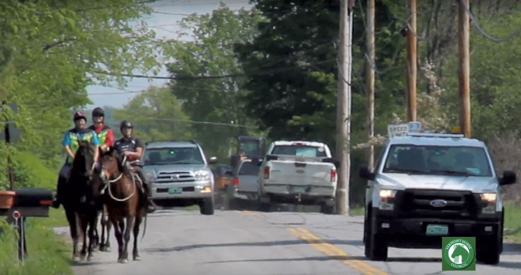 A screenshot from the Vermont Horse Council video - COURTESY PHOTO