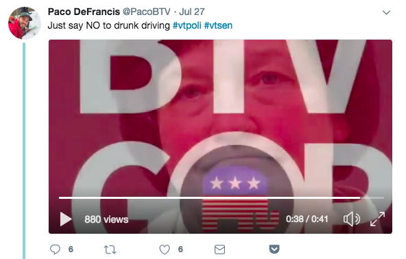 Paco DeFrancis' video of Sen. Debbie Ingram's arrest - SCREENSHOT