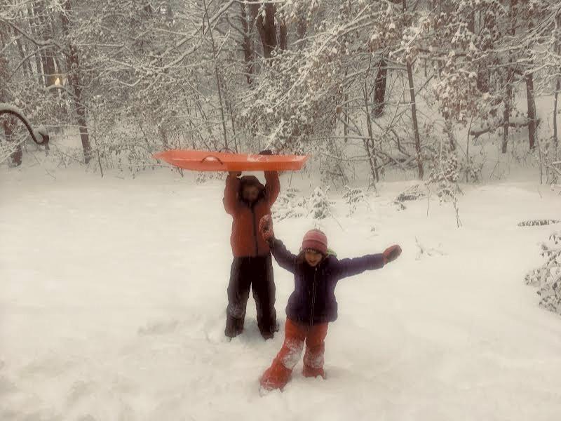 Ann Braden's children, Ethan - and Alice, in their backyard - COURTESY OF ANN BRADEN