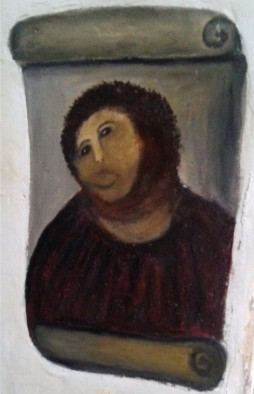 Attempted restoration of the 'Ecce Homo' fresco by Cecilia Giménez
