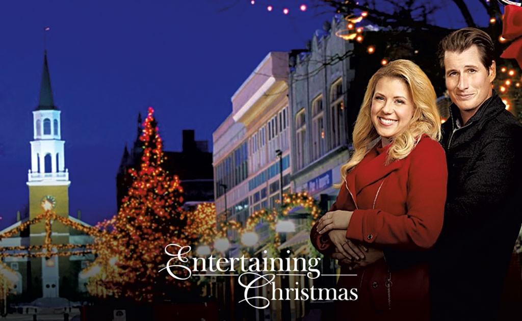Jodie Sweetin and Brendan Fehr in Entertaining Christmas. When the Hallmark Channel movie ...