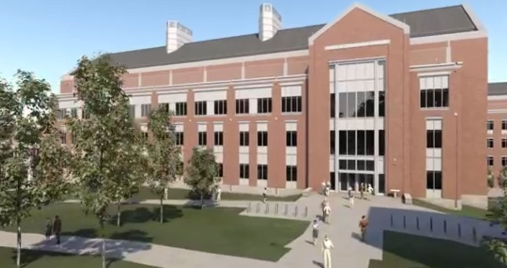 Still from a UVM STEM Complex animation video - COURTESY OF THE UNIVERSITY OF VERMONT FOUNDATION