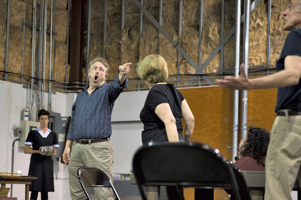 Actors rehearsing The Dining Room - JAMES BUCK