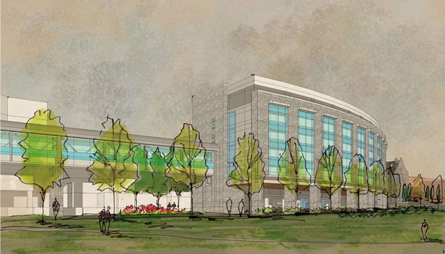 Artist's rendition of proposed addition to UVM Medical Center - COURTESY OF UNIVERSITY OF VERMONT MEDICAL CENTER