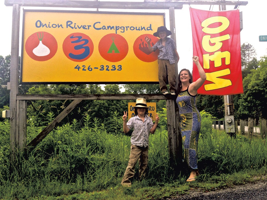 Stephanie Jaquelyn Rieke at Onion River Campground - COURTESY OF STEPHANIE JAQUELYN RIEKE