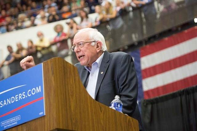 Sanders speaking in Wisconsin last month - FILE: ERIC TADSEN