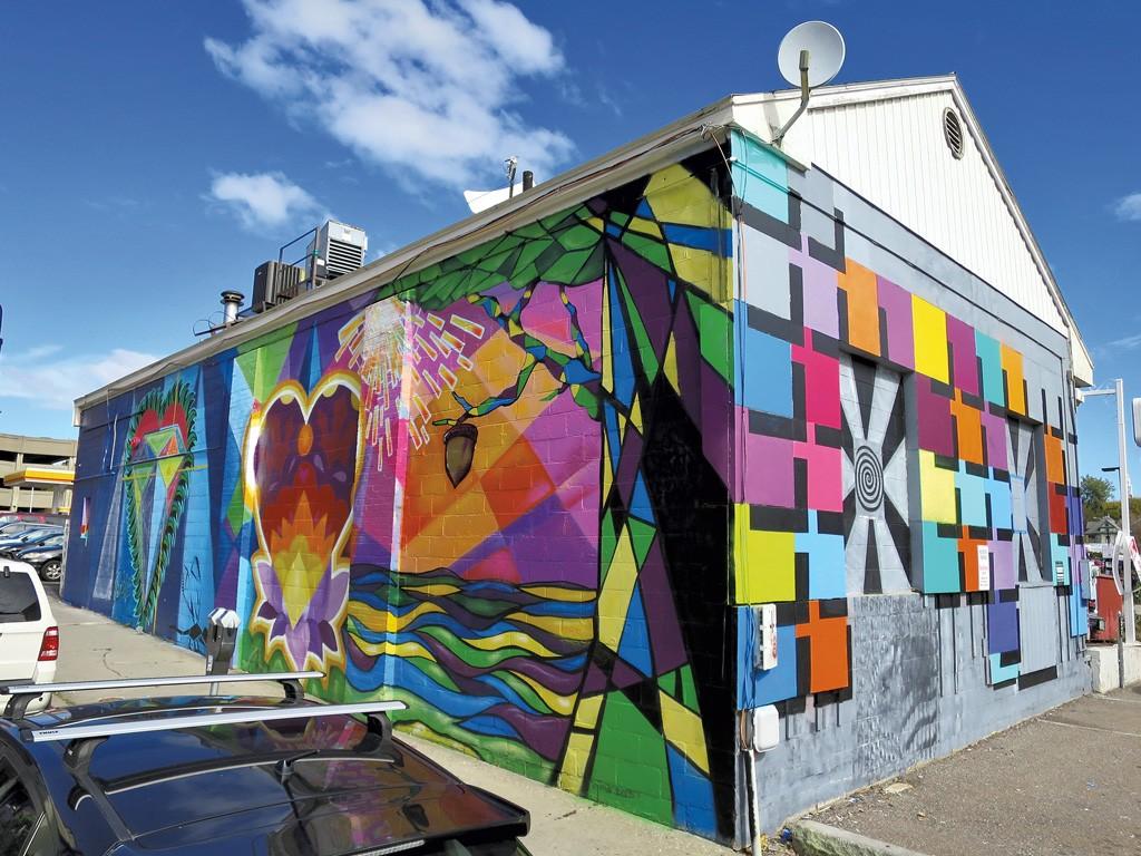 Burlington Artists Roll Out A Downtown Mural Visual Art Seven