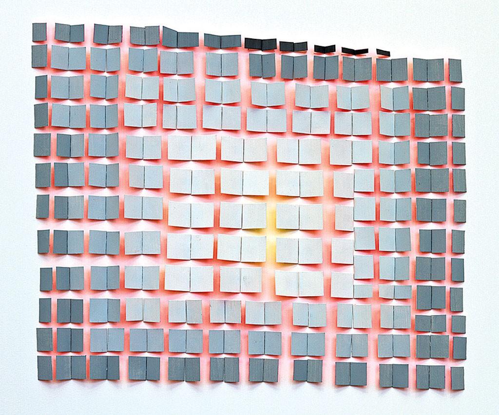 """""""Pink Line Grid"""" by Joan Grubin"""
