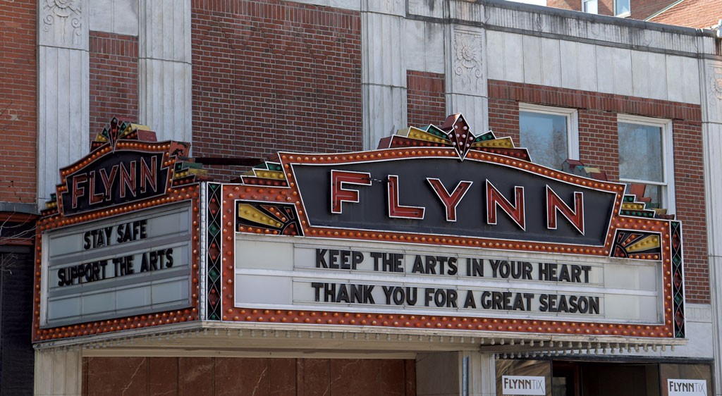 The Flynn theater marquee in Burlington - MARGARET GRAYSON