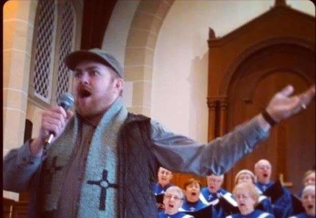 Adam Hall and choir - COURTESY OF SIMONE O'FLAHERTY