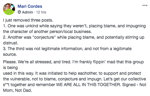 A March 23 post by Mari Cordes.