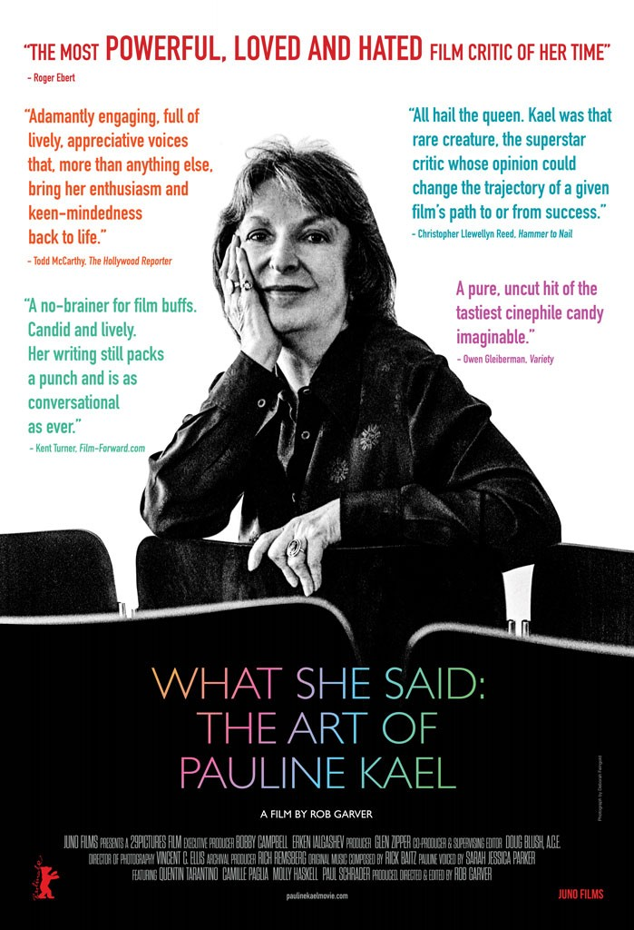 Couch Cinema What She Said The Art Of Pauline Kael Live Culture