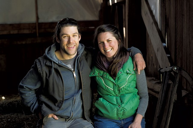 Zack Munzer and Kate  Turcotte of Orb Weaver Creamery - FILE: CALEB KENNA