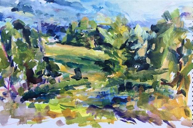 """June Sky"" by Bettina Stark - COURTESY OF FURCHGOTT SOURDIFFE GALLERY"