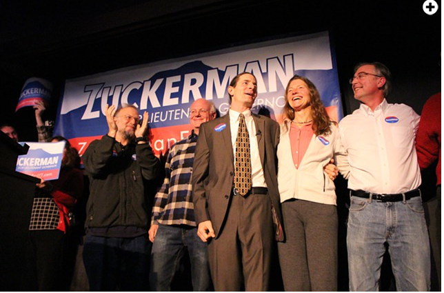 Sen. David Zuckerman kicked off his campaign for lieutenant governor last fall. - SEVEN DAYS FILE PHOTO