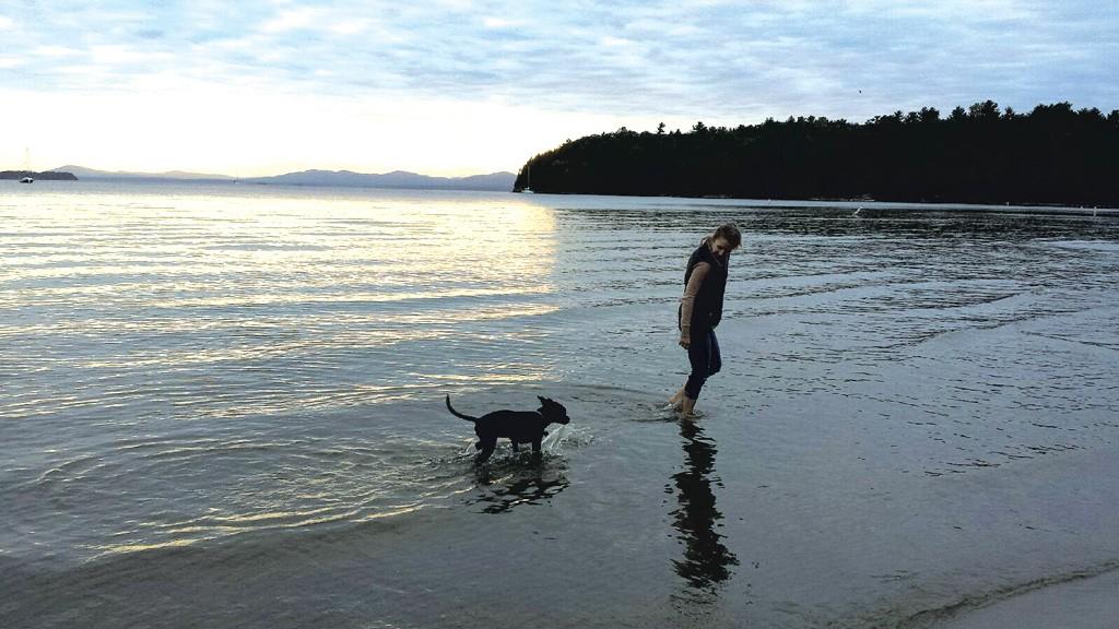 Sarah McLellan and the family dog