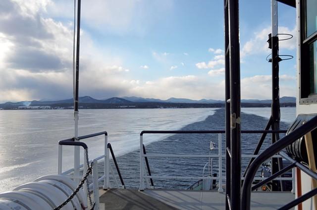 A Lake Champlain ferry ride in winter - FILE ©️ SEVEN DAYS