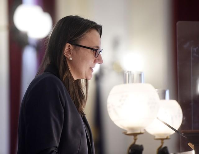 House Speaker Jill Krowinski - FILE: JEB WALLACE-BRODEUR
