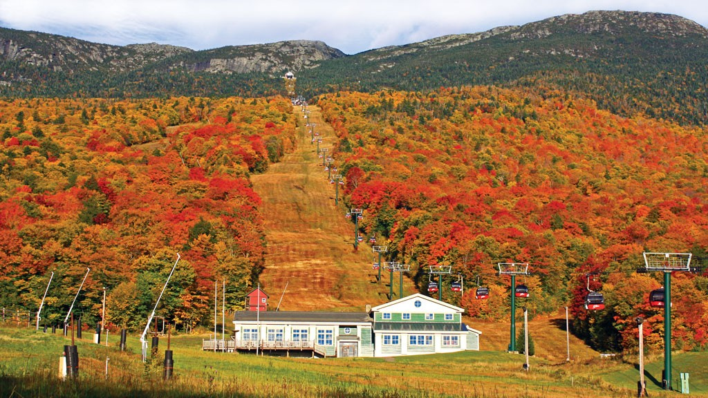 Stowe Mountain Resort gondolas - COURTESY OF STOWE MOUNTAIN RESORT