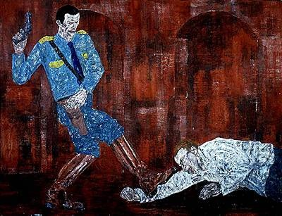 """White Squad V"" by Leon Golub, 1984"